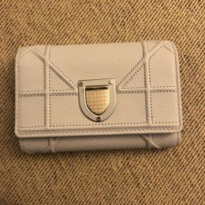 Dior Sky blue leather silver wallet new with tags